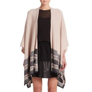 Vince Graphic Stripe Wool-Cashmere Poncho